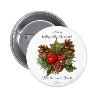 Christmas Centerpiece Design 6 Cm Round Badge