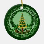 Christmas Chaddagh Round Ceramic Decoration