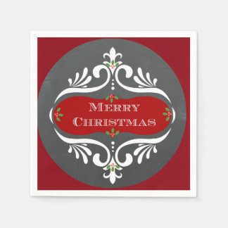 Christmas Chalkboard Red  Napkins Disposable Napkin