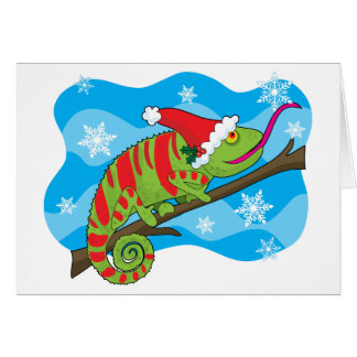 Christmas Chameleon Card
