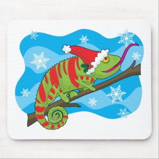 Christmas Chameleon Mouse Pad