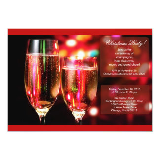 christmas champagne office party invitation