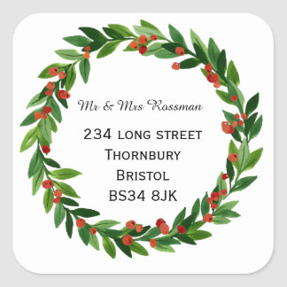 Christmas Change of address sticker