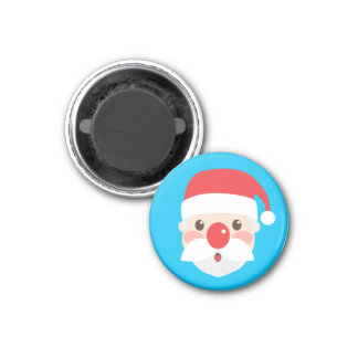 Christmas Character Faces 3 Cm Round Magnet