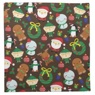 Christmas Characters Napkin