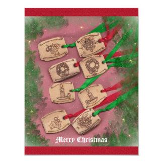 Christmas Charm Old Fashioned Christmas 11 Cm X 14 Cm Invitation Card