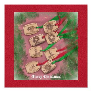 Christmas Charm Old Fashioned Christmas 13 Cm X 13 Cm Square Invitation Card