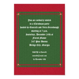 Christmas Charm Old Fashioned Christmas 13 Cm X 18 Cm Invitation Card