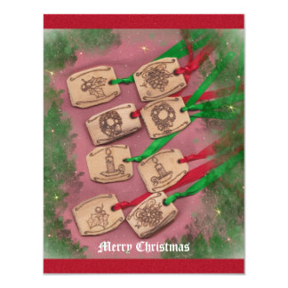 Christmas Charm Old Fashioned Christmas Custom Announcements