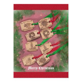 Christmas Charm Old Fashioned Christmas 6.5x8.75 Paper Invitation Card