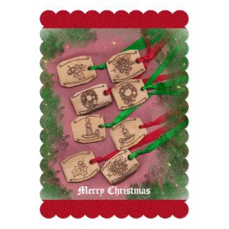 Christmas Charm Old Fashioned Christmas 5x7 Paper Invitation Card