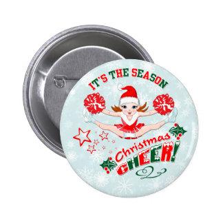 Christmas Cheer 6 Cm Round Badge