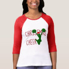 Christmas Cheer Cheerleader Holiday Spirit T-Shirt