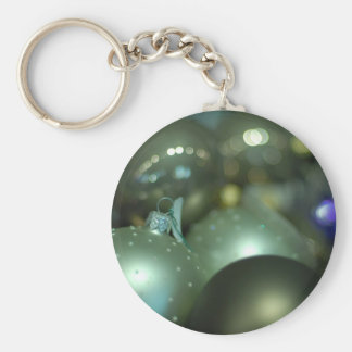 Christmas cheer decoration tree basic round button key ring
