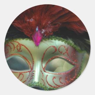 Christmas cheer decoration tree mask round sticker