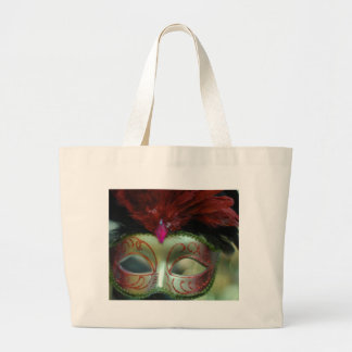Christmas cheer decoration tree mask jumbo tote bag