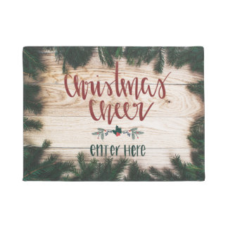 Christmas Cheer Door Mat