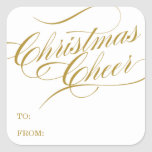 CHRISTMAS CHEER | HOLIDAY GIFT TAGS SQUARE STICKERS