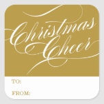 CHRISTMAS CHEER | HOLIDAY GIFT TAGS STICKERS