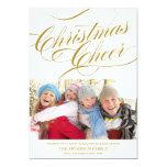 CHRISTMAS CHEER   HOLIDAY PHOTO CARD 13 CM X 18 CM INVITATION CARD
