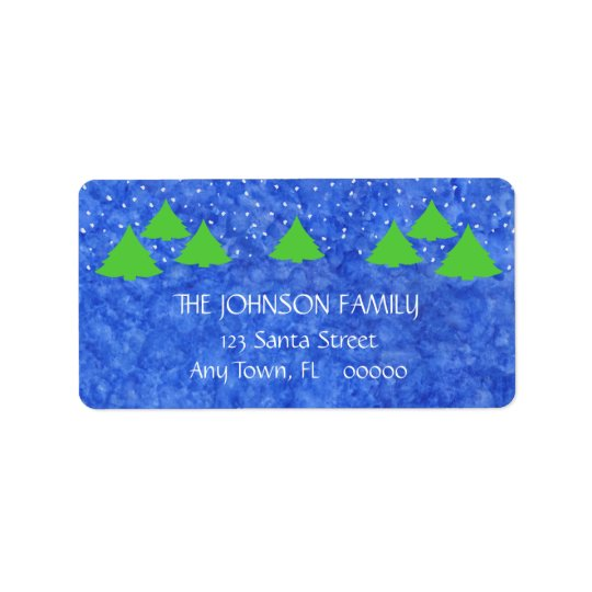 Christmas Cheer in Royal and Lime Green Address Label