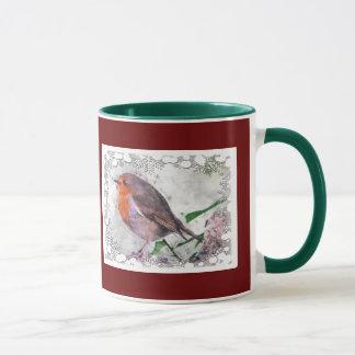 Christmas Cheer Robin Redbreast Mug