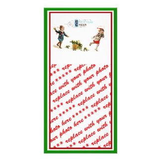 Christmas Cheer Snowball Toss Picture Card
