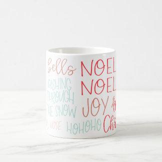 Christmas Cheer Typography Mug