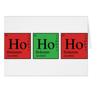 Christmas Chemistry Greeting Card