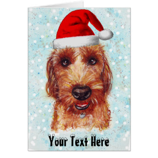 Christmas Chester the Jackapoo Watercolour Card
