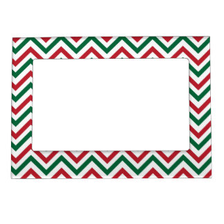 Christmas Chevron Magnetic Picture Frame