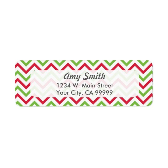 Christmas Chevron Pattern Red and Green