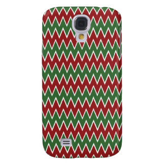Christmas Chevron Red and Green Zigzag Pattern Galaxy S4 Case