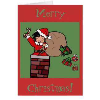 Christmas chibi greeting card