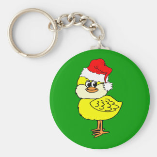 Christmas chick key chain