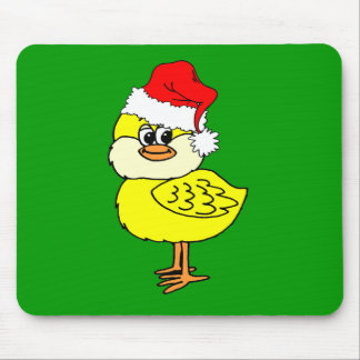 Christmas chick mouse pads