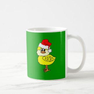 Christmas chick mug