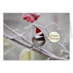 Christmas Chickadee Greeting Card