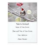 Christmas Chickadee Invites