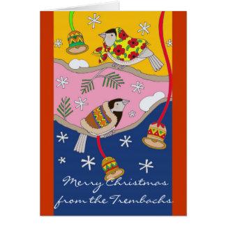 Christmas Chickadees by Vera Trembach Cards