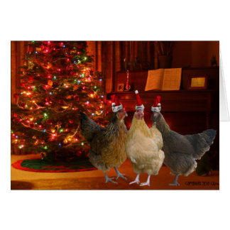 Christmas Chickens Greeting Card