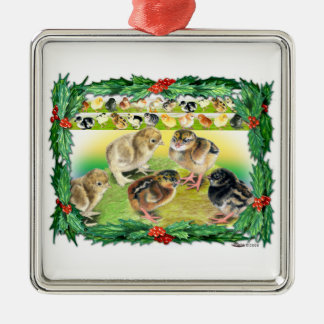 Christmas Chicks Christmas Ornament