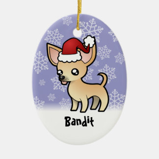 Christmas Chihuahua (add your pets name) Christmas Ornament