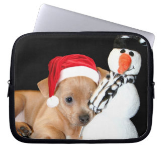 Christmas Chihuahua Computer Sleeves