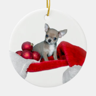 Christmas Chihuahua dog Christmas Ornament
