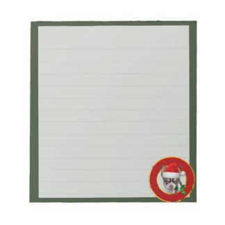 Christmas Chihuahua  dog notepad