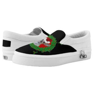 Christmas Chihuahua dog Slip-On Shoes
