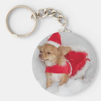 Christmas chihuahua keychain