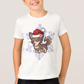 Christmas Chihuahua (long coat) T-Shirt