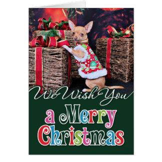 Christmas - Chihuahua - Matty Greeting Card